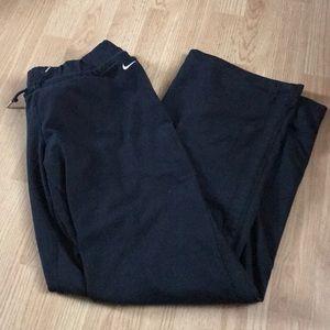 Nike Women's athletic pants wide leg size large